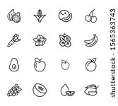 healthy eating line icon set.... | Shutterstock .eps vector #1565363743