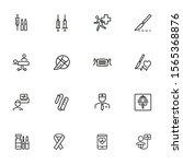 emergency line icon set.... | Shutterstock .eps vector #1565368876