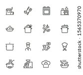 cooking line icon set. kitchen... | Shutterstock .eps vector #1565370970