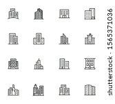 city buildings line icon set....   Shutterstock .eps vector #1565371036