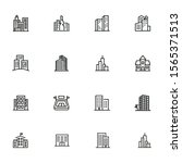 city in europe line icon set.... | Shutterstock .eps vector #1565371513