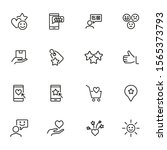 add to favorites line icon set. ... | Shutterstock .eps vector #1565373793