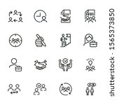 businesspeople line icon set.... | Shutterstock .eps vector #1565373850