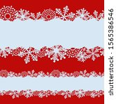 seamless christmas banner with... | Shutterstock .eps vector #1565386546
