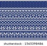 jacquard fairisle wool seamless ...   Shutterstock .eps vector #1565398486