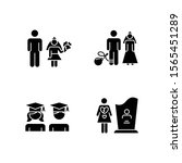 gender equality glyph icons set.... | Shutterstock .eps vector #1565451289