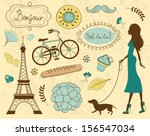 paris related items... | Shutterstock .eps vector #156547034