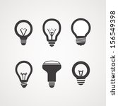 different light bulb icon... | Shutterstock .eps vector #156549398