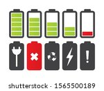 vector battery icons set.... | Shutterstock .eps vector #1565500189