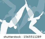 abstract graphical art... | Shutterstock . vector #1565511289