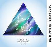 vector background with cat in... | Shutterstock .eps vector #156551150