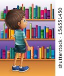 illustration of a boy searching ... | Shutterstock . vector #156551450