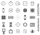 time icons on white background  ... | Shutterstock .eps vector #156551996