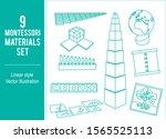 montessori materials set vector ... | Shutterstock .eps vector #1565525113