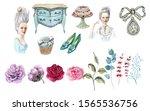 Illustration Of Tender Rose An...