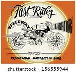 illustration sketch motorcycle... | Shutterstock .eps vector #156555944