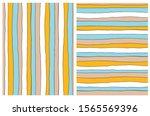 hand drawn irregular geometric... | Shutterstock .eps vector #1565569396