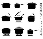 pan set icon  logo isolated on... | Shutterstock .eps vector #1565587543