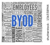 byod  bring your own device   ... | Shutterstock . vector #156558944
