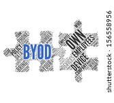 byod  bring your own device   ... | Shutterstock . vector #156558956