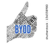 byod  bring your own device   ... | Shutterstock . vector #156558980