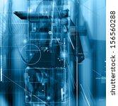 futuristic background design | Shutterstock . vector #156560288