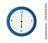 simple clock icon in vector...