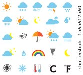 weather icons  clouds  sun ...