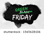 """Small photo of Green Friday concept with hole burned in white paper. Text """"Black Friday Sale"""" with word """"Black"""" being crossed out. Strikethrough or strikeout effect for word """"Black"""" to be exchanged on """"Green""""."""