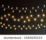 christmas lights isolated on... | Shutterstock .eps vector #1565635213