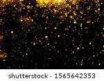 golden glitter bokeh lighting...   Shutterstock . vector #1565642353