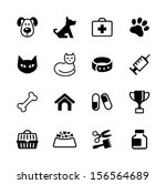 icon set    pets  vet clinic ... | Shutterstock .eps vector #156564689