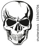 evil human black skull for... | Shutterstock . vector #156565706