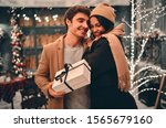 young romantic couple is having ... | Shutterstock . vector #1565679160