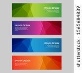 vector abstract design banner... | Shutterstock .eps vector #1565684839