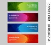 vector abstract design banner... | Shutterstock .eps vector #1565685310
