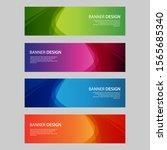 vector abstract design banner... | Shutterstock .eps vector #1565685340