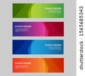 vector abstract design banner... | Shutterstock .eps vector #1565685343