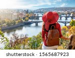 A Traveler Woman With Red Hat...