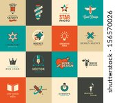 set of icons and stickers for...   Shutterstock .eps vector #156570026