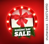 boxing day design with... | Shutterstock .eps vector #1565714950