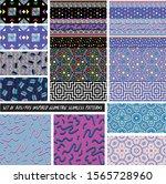 set of 80s 90s geometric... | Shutterstock .eps vector #1565728960