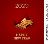 2020 chinese new year  zodiac... | Shutterstock .eps vector #1565730766