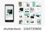 social media pack. business...   Shutterstock .eps vector #1565735800