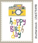 happy birthday card | Shutterstock .eps vector #156575498
