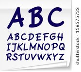 vector set with hand drawn abc... | Shutterstock .eps vector #156575723