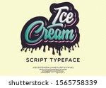 ice cream. hand made script... | Shutterstock .eps vector #1565758339