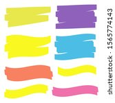 yellow marker text selection.... | Shutterstock . vector #1565774143