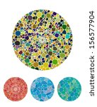 crushing abstract circle... | Shutterstock .eps vector #156577904