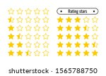 icons for rating. golden five...